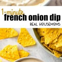 This will amaze you - it tastes JUST like store bought French Onion Dip! 3 Ingredients, 1 minute and everyone will go mad over this!