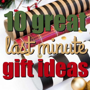 Christmas is just around the corner! If you're like me, there are still a few names to cross off your Christmas gift list, but don't fret! I'm sharing 10 of my favorite Great Last Minute Gift Ideas to help find the perfect present!