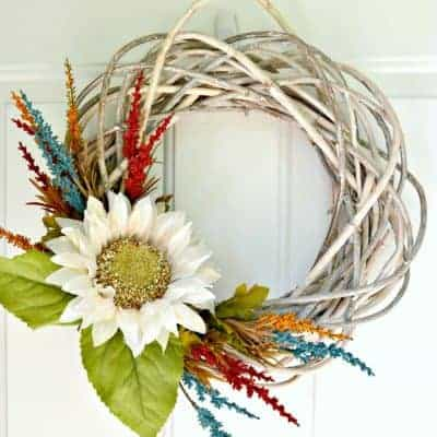 15 Minute Fall Wreath