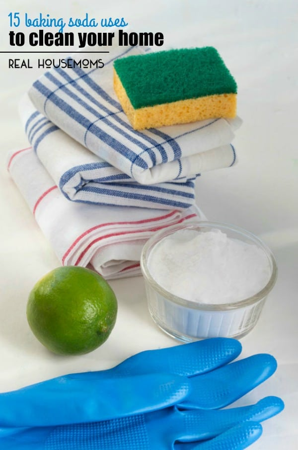 Make chore day easier by cleaning with baking soda. Here are 15 BAKING SODA USES TO CLEAN YOUR HOME!