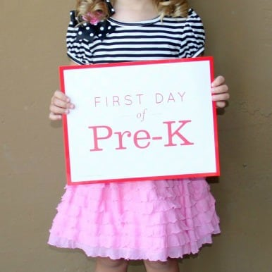 First Day PreK