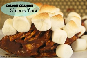 Golden Graham S'mores Bars#realhousmoms.com