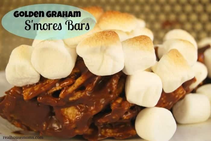 Golden Graham S'mores Bars close up