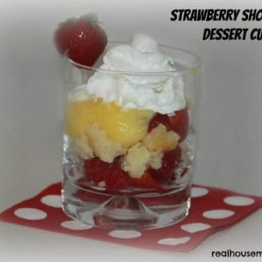Strawberry Shortcake Dessert in a glass
