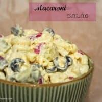 Macaroni Salad #realhousemoms.com