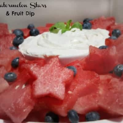 Watermelon Stars with Fruit Dip