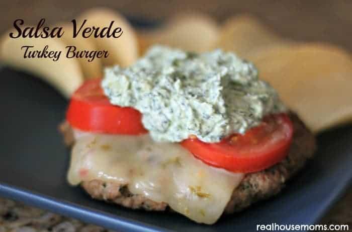 Salsa Verde Turkey Burger - Real Housemoms