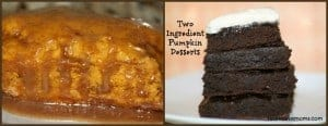 2 ingredient pumpkin dessert collage 2