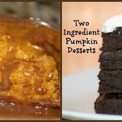 2 Ingredient Pumpkin Desserts