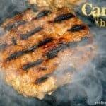 camp burger close up