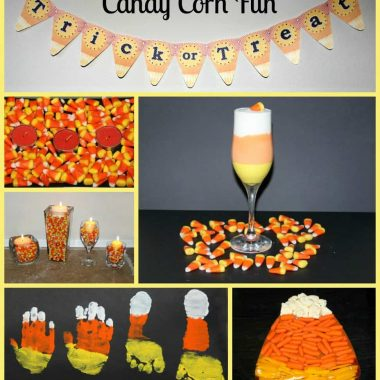 multiple images of candy corn projects