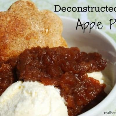 Deconstructed Apple Pie a la Mode