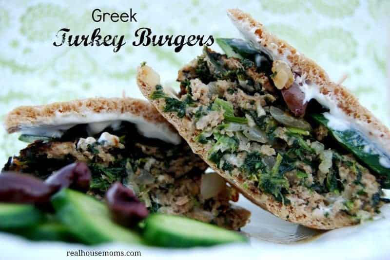 Greek Turkey Burgers #realhousemoms