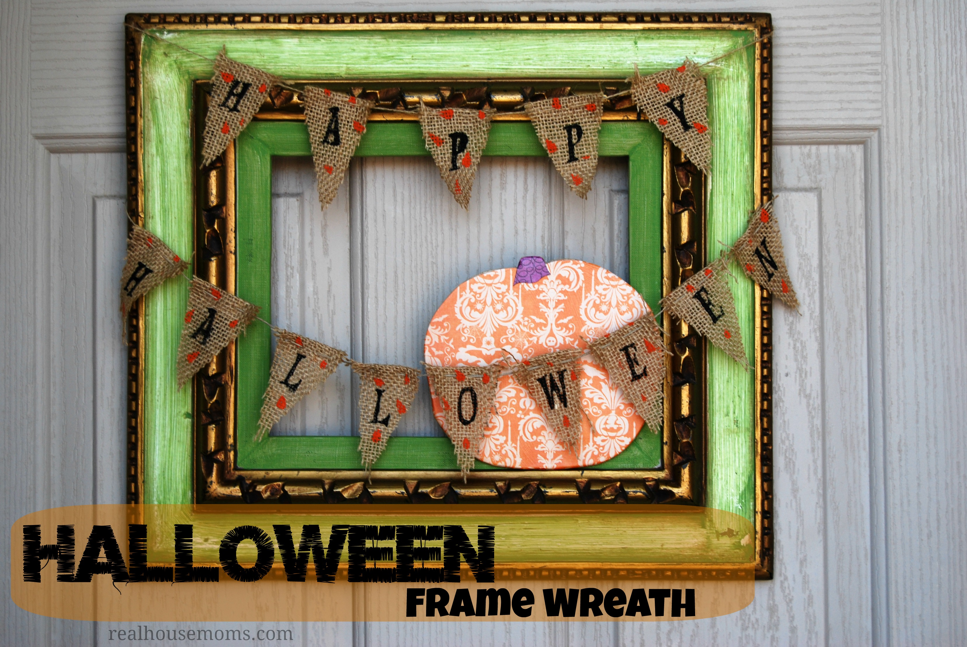 Halloween frame wreath jeuxipadfo Choice Image