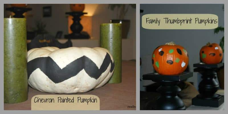 Chevron Painted Pumpkins | Family Thumbprint Pumpkins