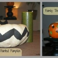 multiple images of painted pumpkins