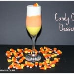 candy corn dessert in drink flute