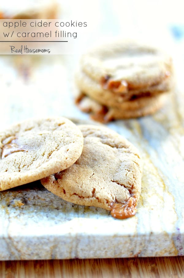 Apple Cider Cookies with Caramel Filling | Real Housemoms
