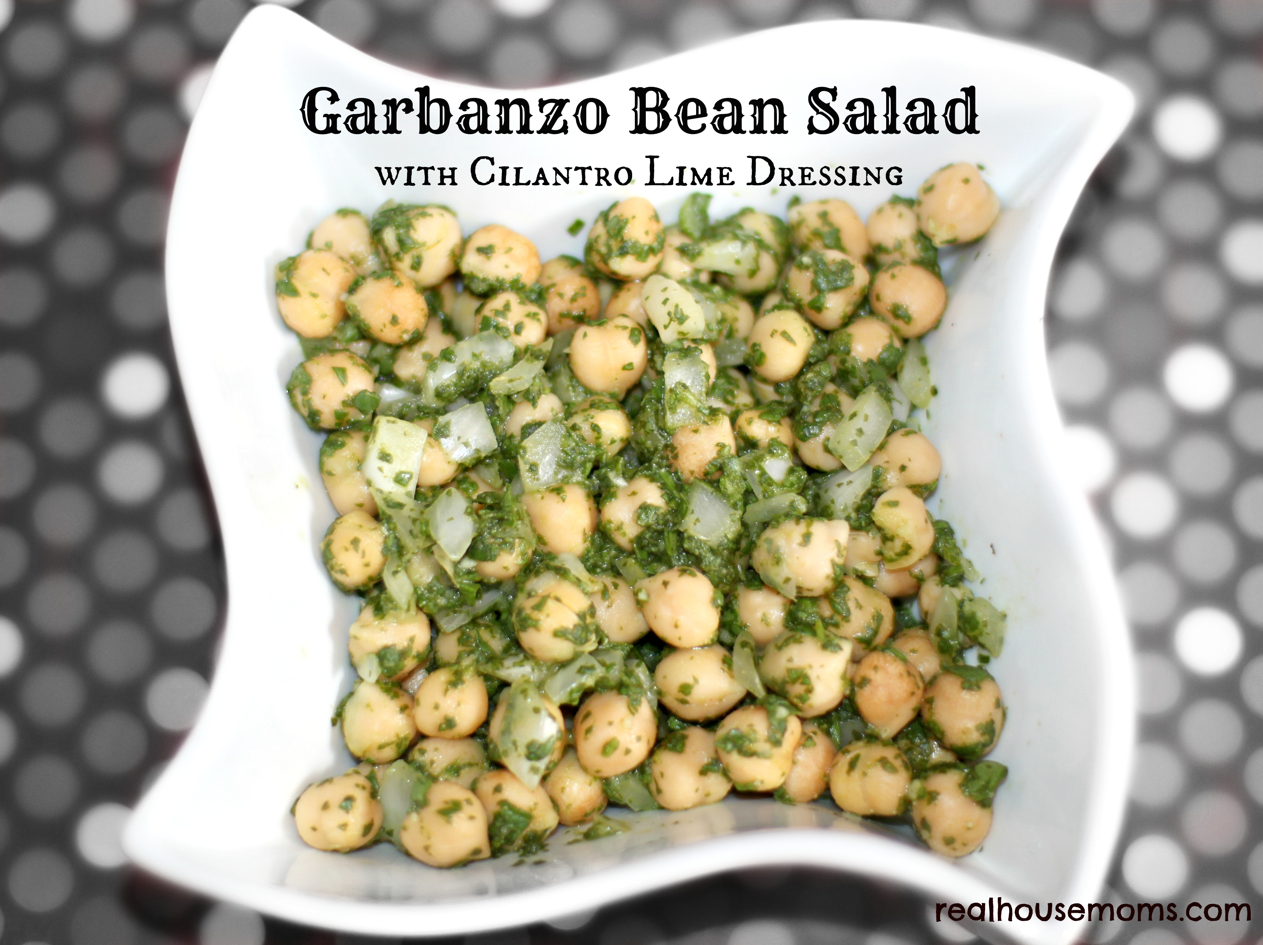 Garbanzo Bean Salad With Cilantro Lime Dressing
