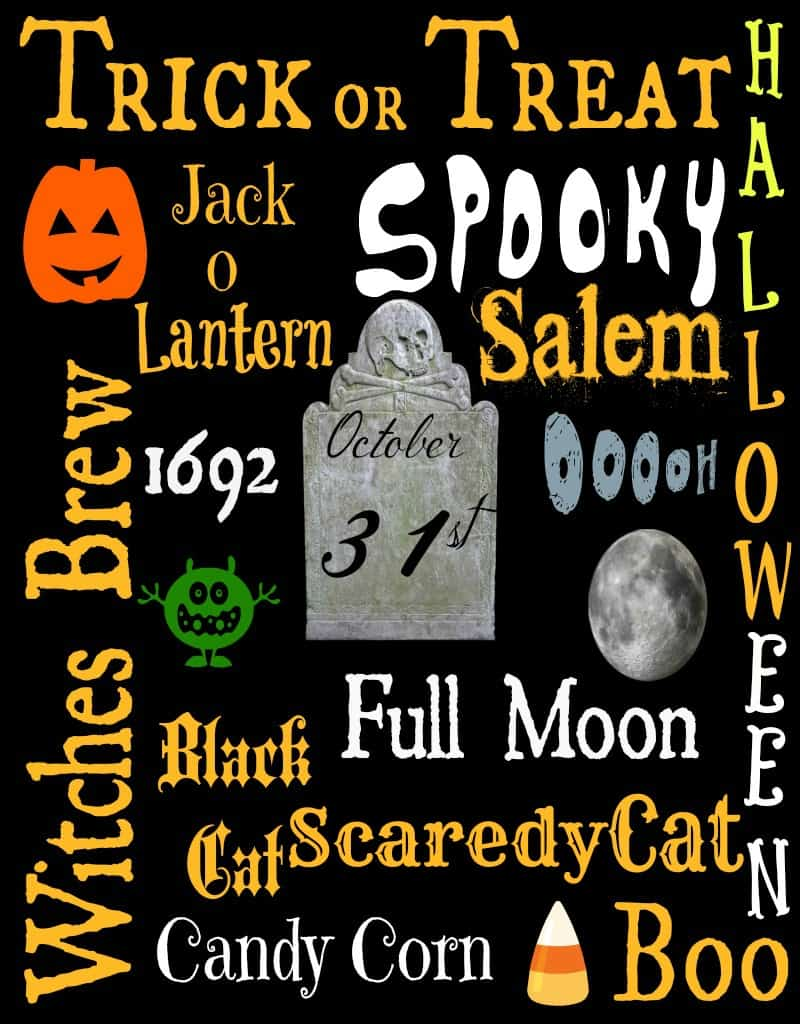 image relating to Subway Art Printable named Cost-free Halloween Subway Artwork Printable