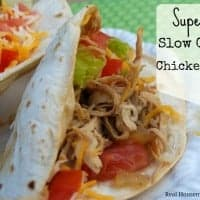 Super Easy Slow Cooker Chicken Tacos