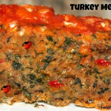 turkey meatloaf close up