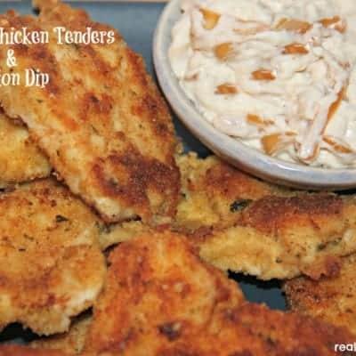 Parmesan Chicken Tenders & Onion Dip