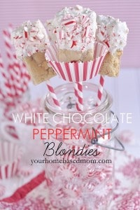 White Chocolate Peppermint Blondies