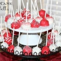 candy cane oreo balls on a cakestand
