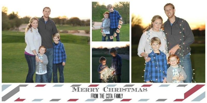 cota family Christmas card