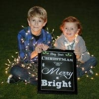 boys christmas portrait with framed printable