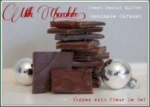 Milk Chocolate caramel and peanut butter