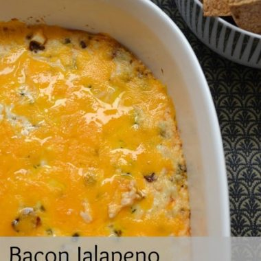 Bacon Jalapeno Popper Dip | Real Housemoms | #appetizer #jalapeno