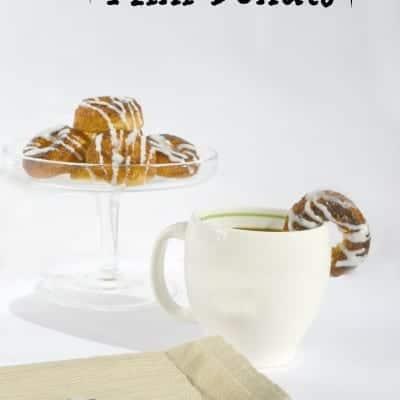 Cinnamon Roll Mini Donuts
