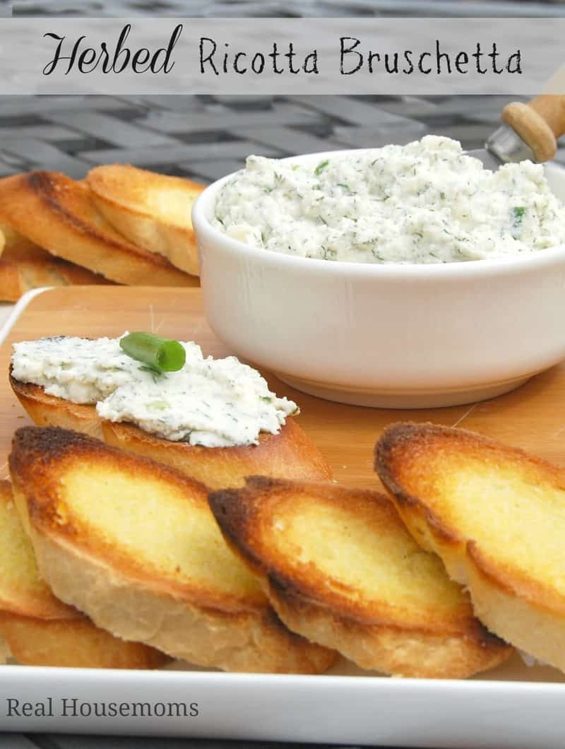 Herbed Ricotta Bruschetta | Real Housemoms