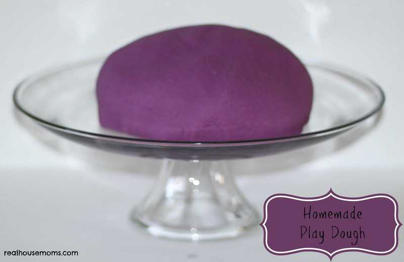 purple homemade play dough