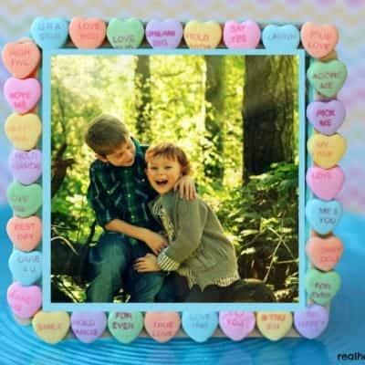 Candy Heart Picture Frame