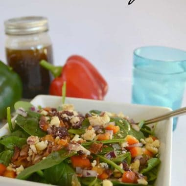 spinach salad with balsamic viniagrette