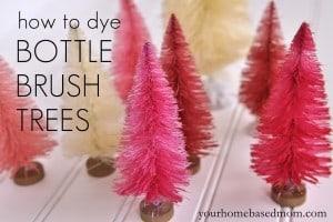 Valentine Bottle Brush Trees by Your Homebased Mom