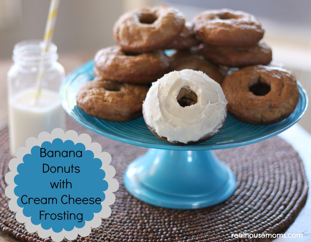 Banana Donuts with Cream Cheese Frosting
