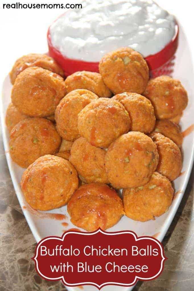 Buffalo Chicken Balls with Blue Cheese