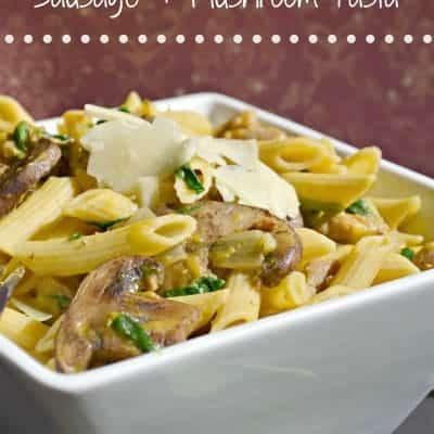 Butternut Squash Sausage & Mushroom Pasta