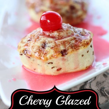 cherry glazed cinnamon rolls