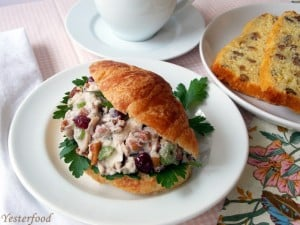 Cranberry Pecan Chicken Salad from Yesterfood