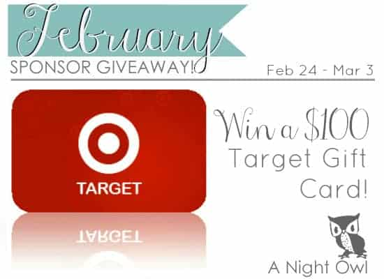 February Sponsor Giveaway $100 Target Giftcard at { Real Housemoms}