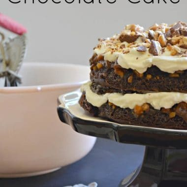 Snickers Chocolate Cake #snickers #dessert