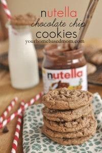 Chocolate Chop Nutella Cookies