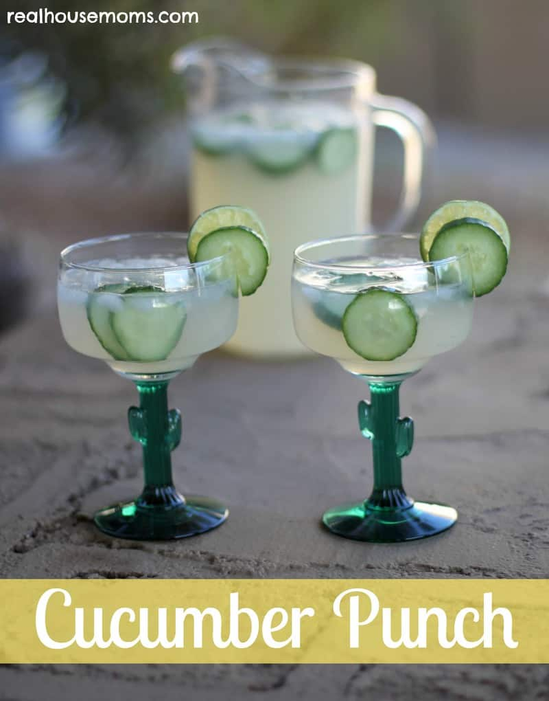 2 glasses or cucumber punch drinks
