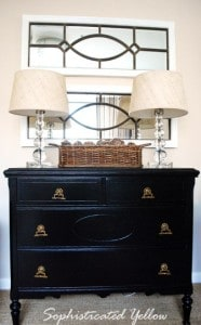Little Black Dresser | Sophisticated Yellow