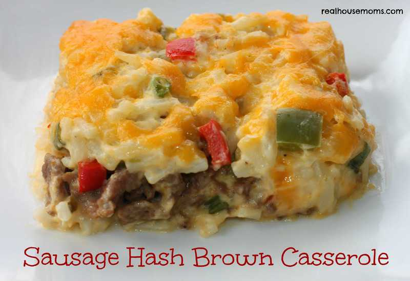 ... sausage, eggs, cheddar cheese, and hash browns—in one filling and